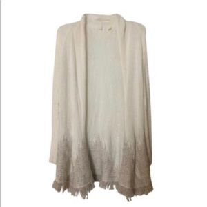 Anthropologie Moth Off White Cardigan